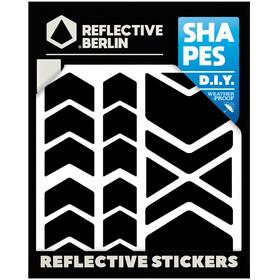 REFLECTIVE BERLIN Shapes Pegatina Reflectora, negro